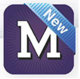 Modoc app icon - purple square with white M and slanted caption: New